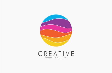 Colorful logo. geometric icon. technology logo. web net logo icon. Geometric logo. Company logo. Vector logo icon