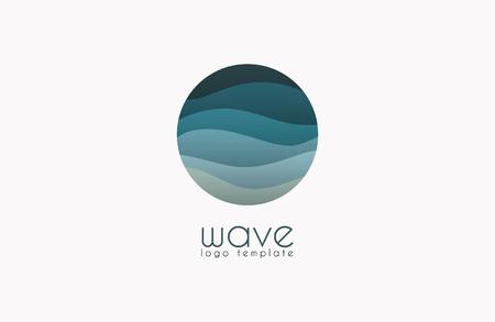Ocean logo. Water logo. Wave logo template Vectores