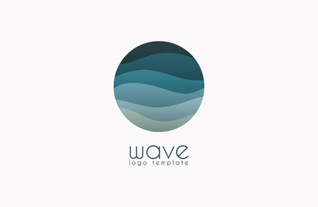 Ocean logo. Water logo. Wave logo template Vettoriali