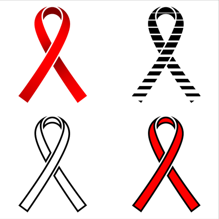 action fund: Ribbon, AIDS ribbon, red ribbon, AIDS, aquired immune deficiency syndrom, ribbon design, ribbon concept, logo, HIV, ribbon set, 1 december