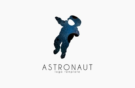 earth hands: Astronaut Colorful Grunge style logotype.