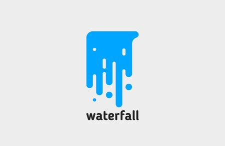 waterval . water . creatief ontwerp. lijn.