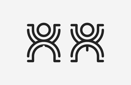 genders: Restroom male and female sign illustration