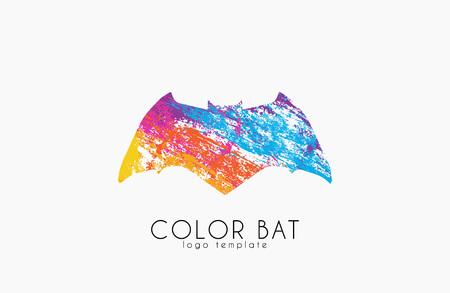 박쥐 로고. 박쥐 색깔. 크리에이티브 로고 디자인