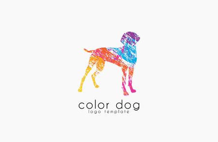 Dog logo design. Animal logo. Colorful logo. Creative logo. Pat logo