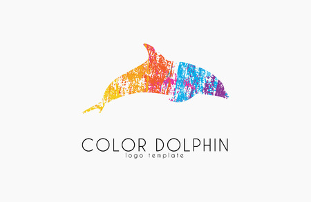 Dolphin logo. Water logo. Creative logo design. Sea logo.