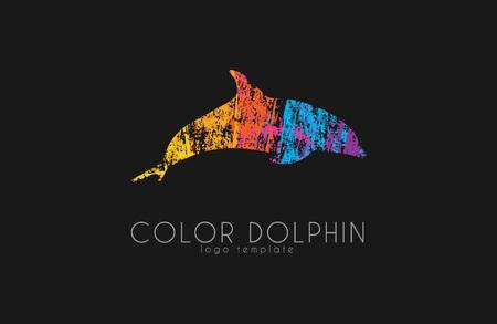 Dolphin logo. Woda logo. Kreatywne projektowanie logo. Sea logo.