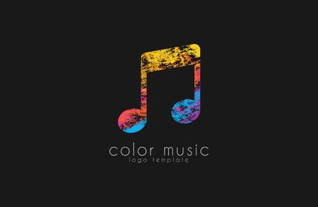 Nota logotipo. logotipo de la música. logotipo de Creative. logotipo de color.