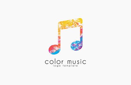 logo music: Note logo. Music logo. Creative logo. Color logo.