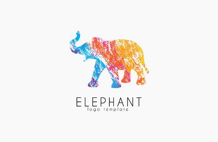 siluetas de elefantes: Elefante diseño del logotipo. logotipo de África. logotipo de color. logotipo de animales creativo