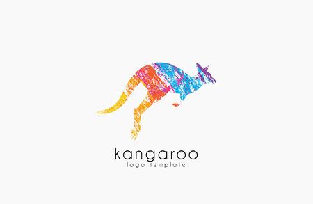 Kangaroo logo. Australia logo design. Animal logo. Creative logo. Nature logo Иллюстрация