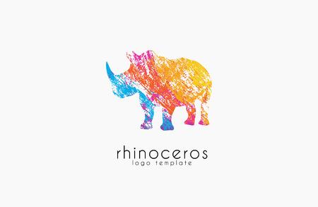 hunted: Rhino logo, Animal logo,Animal logo collection,Elements for brand identity, creative logo. Illustration