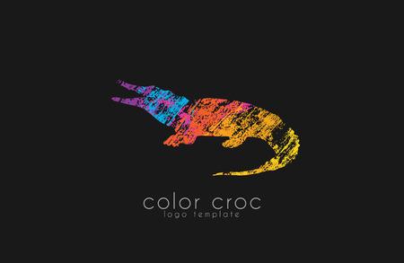 croc: crocodile design. color croc. animal .
