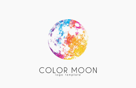 dipole: Moon design. Color moon. Cosmic . Space . Creative design.
