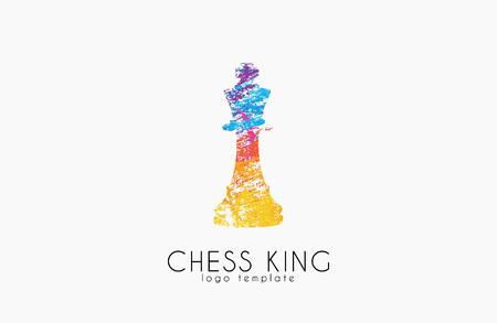체스 킹. 체스. 왕 . 크리 에이 티브 로고.