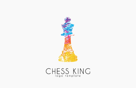 Chess king . Chess . King . Creative logo.