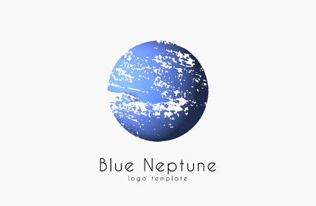 neptune: Neptune . Planet . Comic . Space . Creative logo Illustration