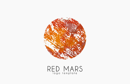 cosmology: Mars . Red mars . Planet . Red planet. Creative Illustration