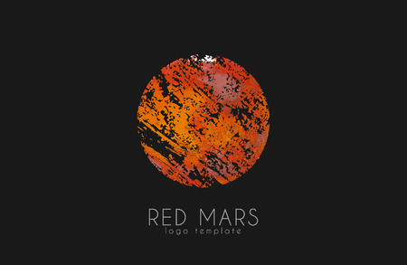 Mars . Red mars . Planet . Red planet. Creative Illustration