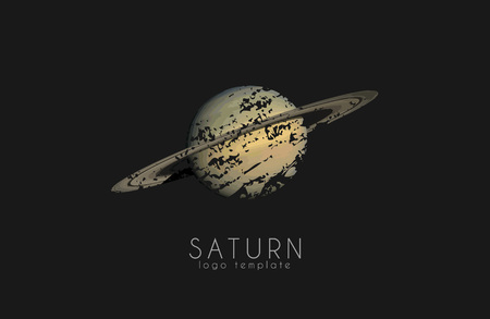 and saturn: Saturn design. Planet . Cosmic . Space
