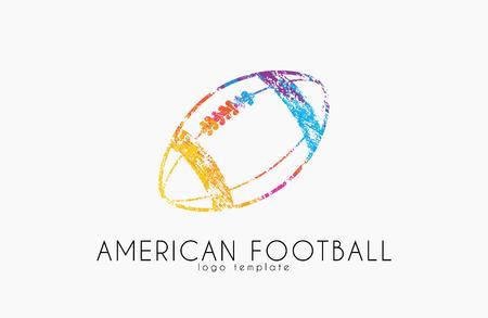 audible: American football ball. football ball. Ball logo.