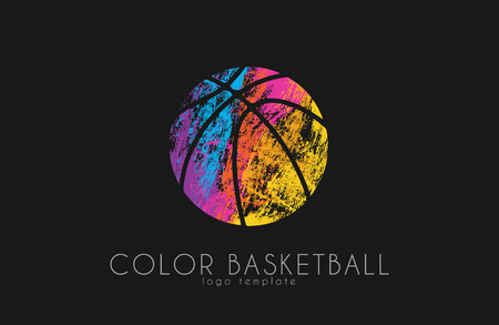 pumped: Basketball ball . Basketball sport. Ball . Illustration