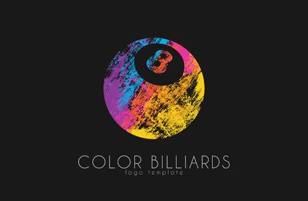 billiard ball . Billiard . Color ball .