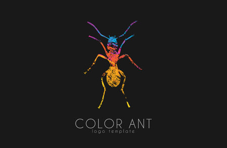 Ant . Color ant symbol. Creative ant