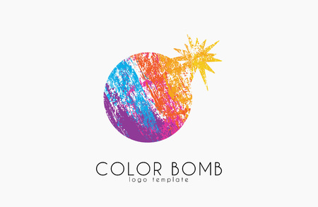Bomb . Color bomb . Creative