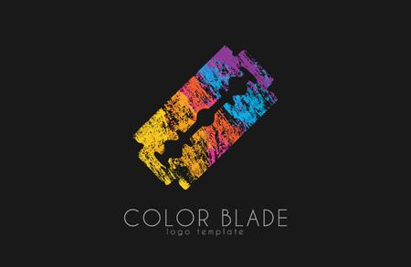 blade: Blade razor . Blade . Color blade Illustration