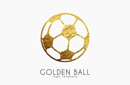 football ball: golden soccer ball. golden football. football logo. soccer logo