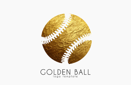 golden ball: baseball game design. baseball ball. golden ball. sport logo. baseball logo Illustration