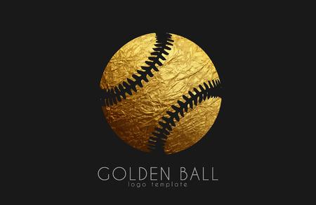 baseball game design. baseball ball. golden ball. sport logo. baseball logo
