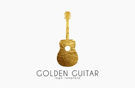 gutar: golden gutar logo. music logo. guitar logo design