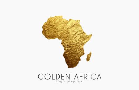 Africa. Golden Africa logo. Creative Africa logo design Illustration