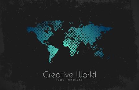 World map logo creative world design creative logo royalty free world map logo creative world design creative logo vector gumiabroncs Gallery