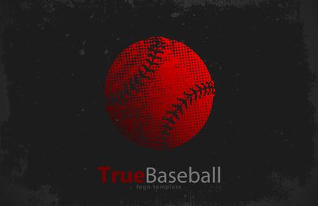 league: Baseball logo. Baseball ball design. Grunge logo. Sport logo Stock Photo