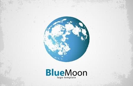 dipole: Moon logo design. Creative moon logo. Night logo. Blue moon. Illustration