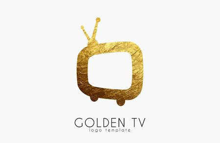 TV logo. Creative tv logo design. Media design Banco de Imagens - 65187873