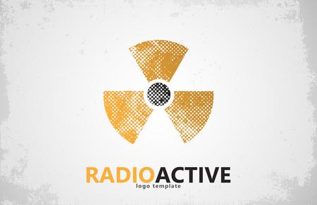 radioactive symbol: Nuclear logo. Radioactive logo design. Radiation symbol Illustration
