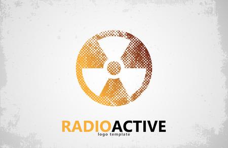 fission: Nuclear logo. Radioactive logo design. Radiation symbol Illustration