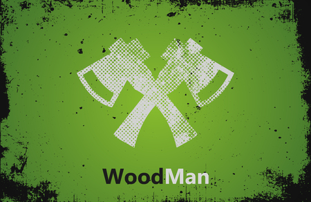 ax man: Lumberjack Woodman   design