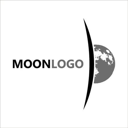 dipole: Moon logo design. Creative moon logo. Night logo. Full moon.