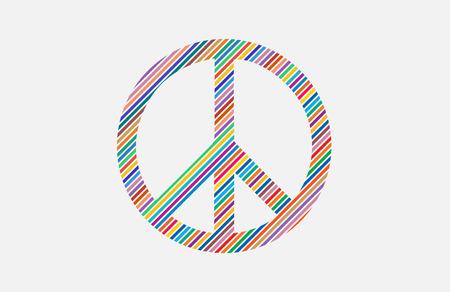 faire l amour: Make Love Not War - style Hippie. PAIX Illustration