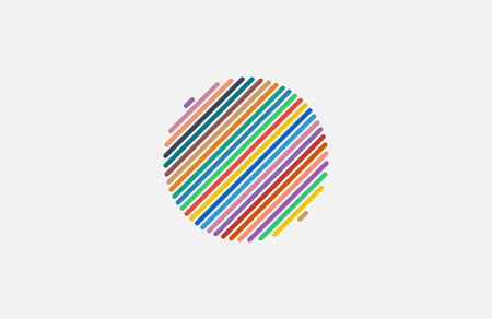 looped shape: Circle ring  design. Abstract flow  template.