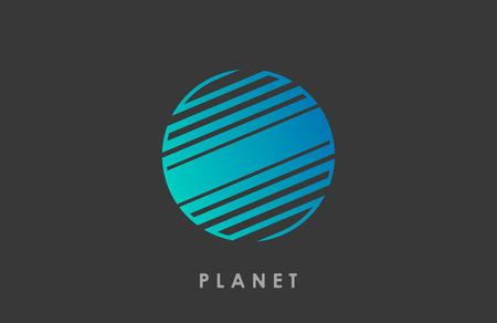Planet logo deign. Line planet. Creative cosmic logo