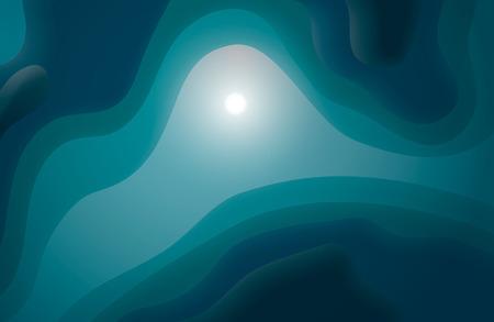 Abstract Design Creativity Background of Waves, Sea bottom. Magic background Ilustração
