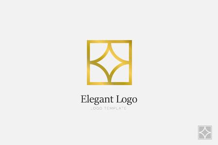 Minimalistic Elegant Logo. Luxury emblem logo template
