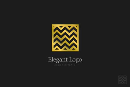 Minimalistic Elegant Logo. Luxury emblem template Banco de Imagens - 76335636