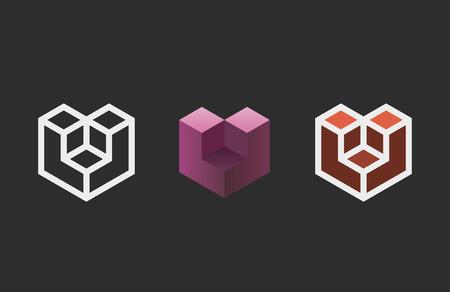 Hexagon design. Creative emblem template. Studio logotype